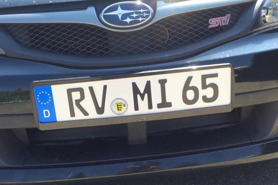 Ravensburg License Plate