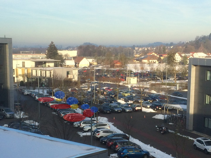 Look! Blue sky during a German winter!