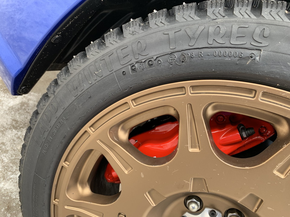 Studded Lappi winter tyres
