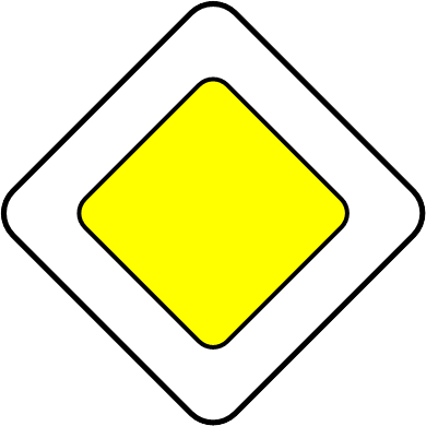 Vorfahrt Schild (right-of-way sign)