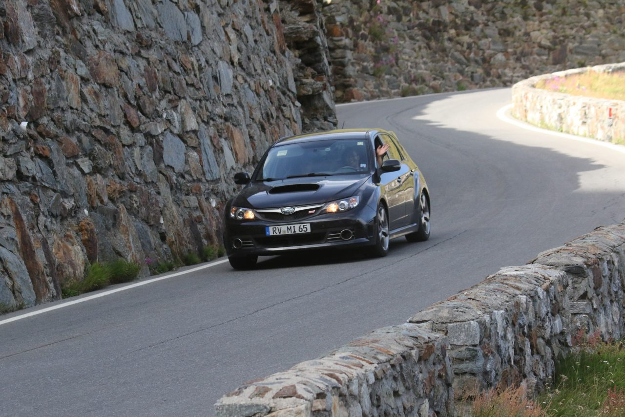 Driving down Stelvio Pass